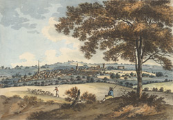 A view of the town of Northampton from Hunsborough Hill
